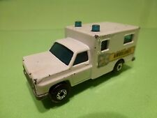 MATCHBOX 41 FORD AMERICAN AMBULANCE - WHITE  - GOOD CONDITION