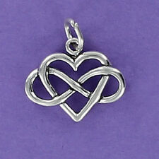Infinity with Heart Charm Sterling Silver for Bracelet No Limit Love Friendship