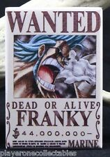 "Franky Wanted Poster - 2"" X 3"" Fridge / Locker Magnet. One Piece Anime"