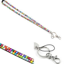 Bling Rhinestone Style Neck Strap Key Holder for Mobile Phone ID Card Lanyard
