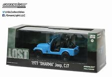 Greenlight 1977 Dharma Jeep CJ 7 Hollywood Lost TV Series 1:43 Blue 86309