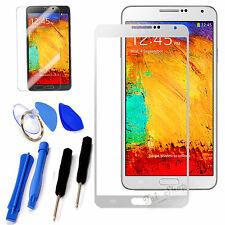 White Replacement Front Screen Glass Lens Kit for Samsung Galaxy Note 3 N9000