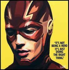 the flash DC canvas quotes wall decals photo painting framed pop art poster