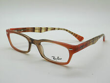 NEW Authentic Ray Ban RB 5150 5487 Peach/Brown 48mm RX Eyeglasses