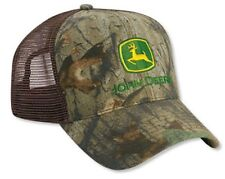NEW John Deere Tall Front Advantage Timber Camo Brown Mesh JD Cap Hat LP52415