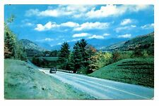 Franconia Notch New Hampshire Postcard Route 3 Vintage Car Unposted Clouds