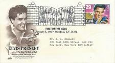 ELVIS PRESLEY - FIRST DAY COVER 040 ADDRESSED NEW YORK - STAMPED MEMPHIS