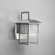 Brushed Nickel 1-light Outdoor Wall Light Fixture