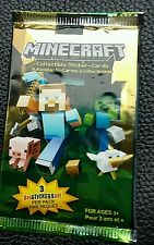 Minecraft collectable Stickers-cards 3 stickers per pack sealed