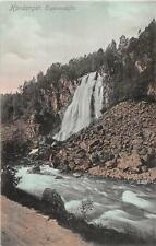 NORWAY HARDANGER ESPELANDSFOS WATERFALL POSTCARD