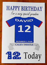 """INVERNESS FAN Unofficial PERSONALISED Football Birthday Card (""""CALEY THISTLE"""")"""