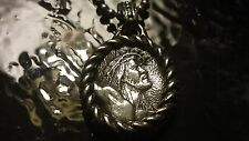 "Scott Kay Christ Medallion On Sterling Silver Beaded 20"" Necklace"