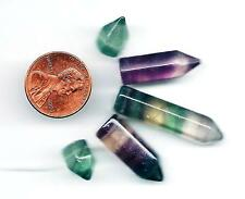Five Graduated Sized Fluorite Top Drilled Crystal Point Beads
