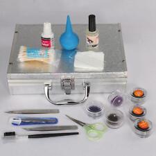 New High-quality False Eyelashes Extension Set Kit Case Tweezers Brush Glue
