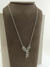 Authentic Pandora Sparkling Leaves Sterling Silver & CZ Necklace 590414CZ-45 New