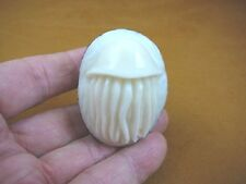 (tne-jell-397-b) Jellyfish TAGUA NUT Figurine Carving Vegetable ivory jelly fish