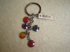 COACH  MULTI-COLORED BUTTON KEYCHAIN , KEY FOB F63982