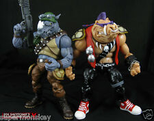 PLAYMATES CLASSIC COLLECTION NINJA TURTLES ROCKSTEADY & BEBOP ACTION FIGURES NEW