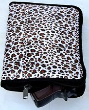Soft Padded Handgun Gun Pistol Case / Range Bag Insert New Leopard Print