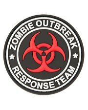 Zombie Outbreak Response PVC Rubber Badge Military Tactical Patch Hook Back