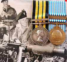 SCARCE TO REGIMENT MAU MAU UPRISING & KOREAN WAR IRISH FUSILIERS MEDAL PAIR