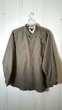 NORTHWEST TERRITORY MEN'S XXL BROWN VENTED CONVERTIBLE SLEEVES OUTDOORS SHIRT
