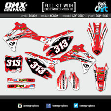 Honda CRF 250 R stickers graphics decals kit 2014 2015 2016 Brush