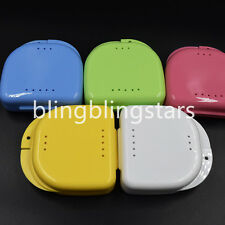 10 Pcs Denture Retainer Storage Box, Mouthguard Container, Assorted Colors