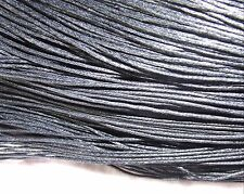8 metres black waxed cotton cord 2 mm plaiting bracelet necklace knots lace WC92
