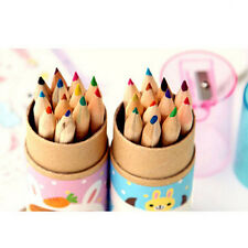 12Pcs Good Colorful Wood Pencil  For Children Stationery Sketch Drawing