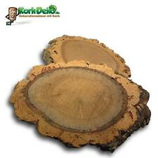 2 Baumscheiben Kork (Korkeiche Korkstück Korkbaum Korkrinde Holz Baumscheibe)
