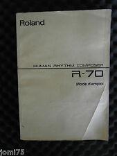 Roland Manuel Français R70 R 70 Human composer Boite rhythm