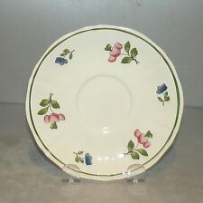 Tea Saucer Lorraine Rose pattern from Gien, France