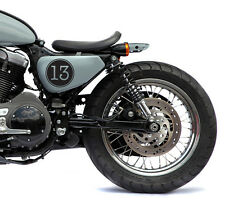 "(4 Decals Kit) 4"" Lucky Number 13 Vintage Cafe Racer Motorcycle Decal Sticker"