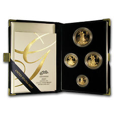 2005-W Proof Gold American Eagle 4 Coin Set - Box and Certificate - SKU #7345