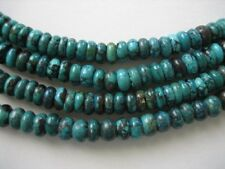 Natural turquoise rondell beads 4x7mm