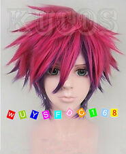 No Game No Life Sora Short Anime Cosplay Costume Full Wig + Free wig cap