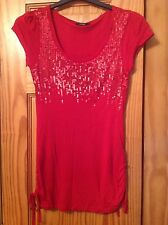 Women's Red Top Size 8