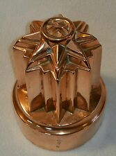 19TH C. BENHAM & FROUD BRUNSWICK STAR COPPER JELLY FOOD MOLD REG. SEPTEMBER 1864