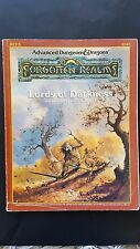 """Ad&d """"lords of darkness"""" les royaumes oubliés tsr # 9240 REF5 1988 bon exemplaire"""
