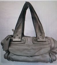 Chloe Metallic Taupe Leather Satchel Shoulder Strap Bag Butter Soft and Gorgeous