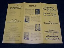 1950 Sustaining Members Dan Beard Council Trifold Brochre famous Supporters