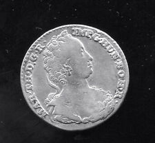 AUSTRIAN NETHERLANDS - FANTASTIC MARIA THERESA SILVER 1/4 DUCATON,1753(h) R