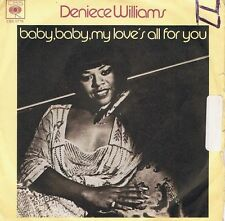 """DENIECE WILLIAMS Baby, Baby My Love's All For You 7"""" Record Italian CBS 1977"""
