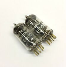 Matched Pair E88CC Gold pin Used Philips MINIWATT SQ Holland Valve Tubes (EVT3)