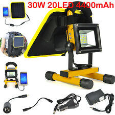 30W 8000LM 20-LED Solar panel Flood light Spotlight Work lamp Extend Battery