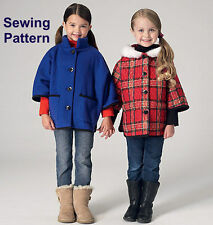 Kwik Sew K4130 PATTERN - Girls Jackets BN - XXS - L