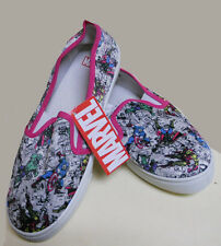 NWT ladies MARVEL Avengers CAPTAIN AMERICA iron man DECKS slip-on sneakers SZ-10