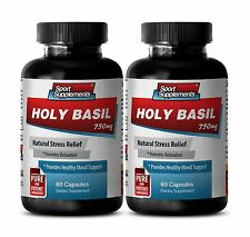 Blood Sugar Support - Holy Basil Extract 750mg - Protect Against Stress Pills 2B