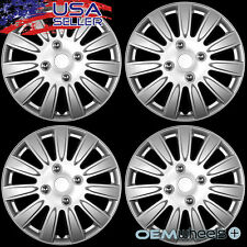 "4 NEW OEM SILVER 15"" HUB CAPS FITS VOLKSWAGEN VW GOLF JETTA TDI CENTER WHEEL SET"